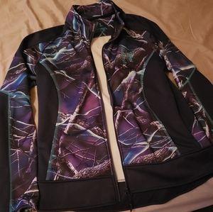 Real tree zip up jacket